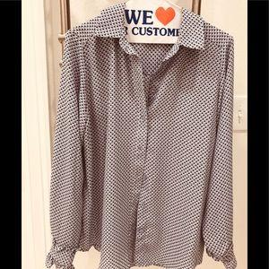 Cute dot print blouse by Who What Wear